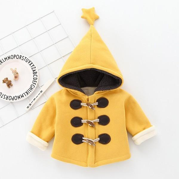 Baby Lovely Horn-button Hooded Jacket