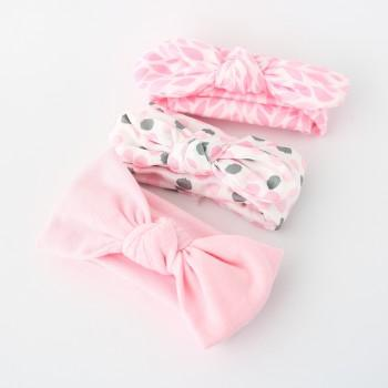 3-pack Sweet Bow Decor Headband Set for Baby Girl