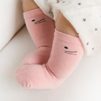 3-pack Comfy Cat Print Socks for Baby