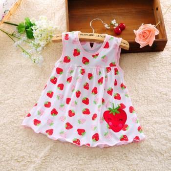 Happy Appliqued Sleeveless Dress for Baby Girl
