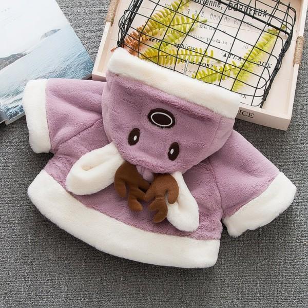 Cute Deer Design Hooded Coat for Baby