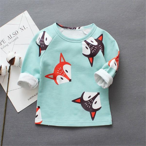 Super Cute Fox Patterned Long-sleeve Top for Baby