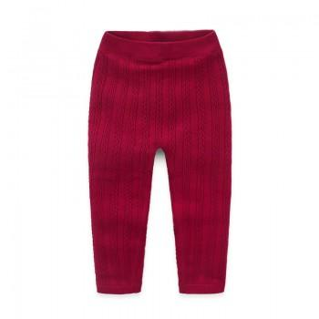 Comfy Solid Fleece Lined Knit Pants for Baby Girl/Girl