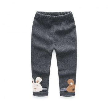 Cute Rabbit Fleece Lined Pants for Baby Girl/Girl