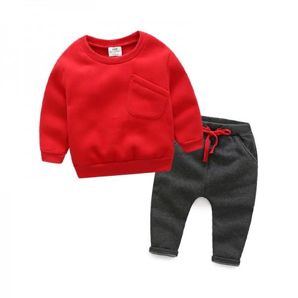 2-piece Fleece Lined Pullover and Pants for Toddler/Baby