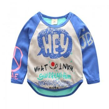 Cool Letter Print Long-sleeve Pullover for Toddler and Kid