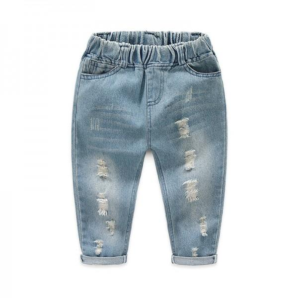 Cool Light Blue Rip Jeans for Baby Boy and Boy