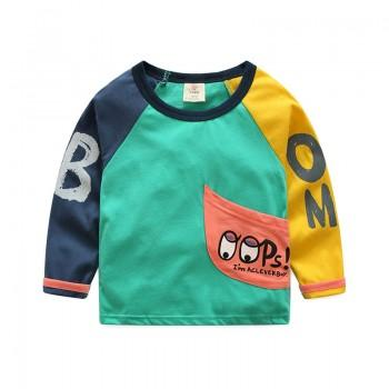 Color Block OOPS Long Sleeves Top for Baby and Kid