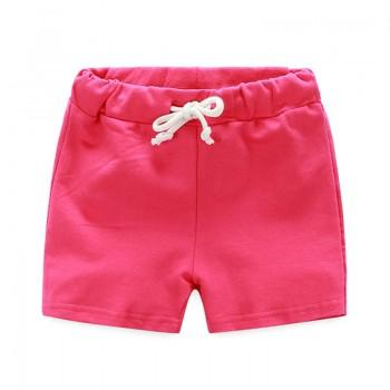 Casual Solid Drawstring Shorts for Toddler and Kid