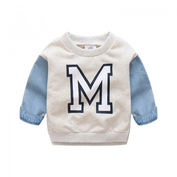 Trendy Splicing Pullover for Toddler Boy and Boy