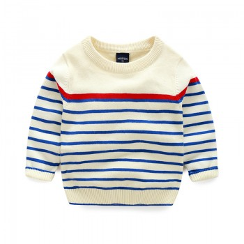 Trendy Striped Knitted Sweater for Toddler Boy and Boy