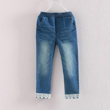 Casual Lace Design Jeans for Girl