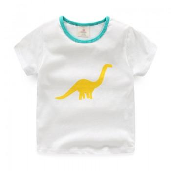 Casual Dino Print Short-sleeve T-shirt for Toddler Boy and Boy