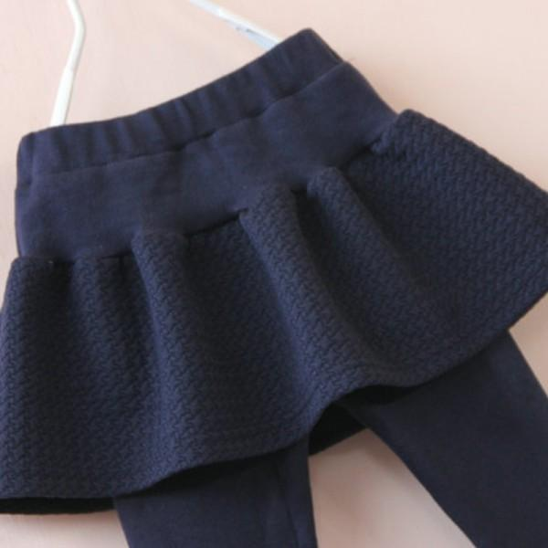 Solid Ruffled Skirt Leggings for Toddler Girl and Girl
