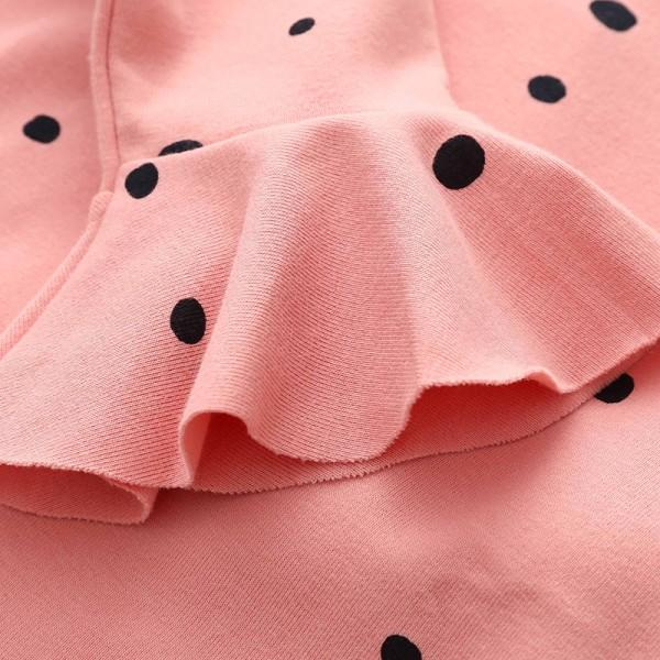Pretty Dotted Flare-sleeve Top for Girl