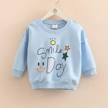 Smile Day Long-sleeve Pullover for Baby and Toddler Girl