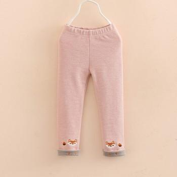 Lovely Fox Embroidered Pants for Toddler Girl and Girl