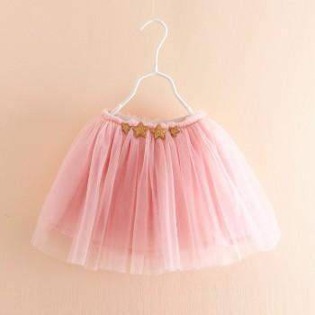 Pretty Solid Star Decor Tulle Skirt for Toddler Girt and Girl
