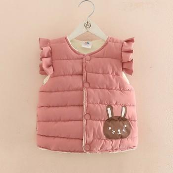 Cute Rabbit Print Flutter-sleeve Vest