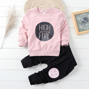 2-piece HIGH FIVE Long Sleeves Top and Pants for Baby