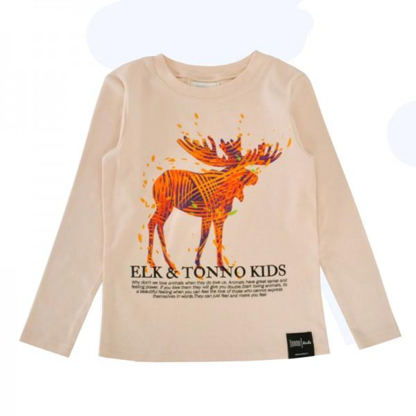 Boy's Stylish Animals Print Long Sleeve Tee