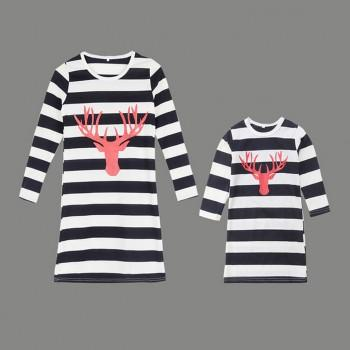 Stylish Striped Design Long-sleeve Tee for Mommy and Me