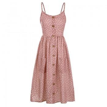 Graceful Allover Backless Strap Dress
