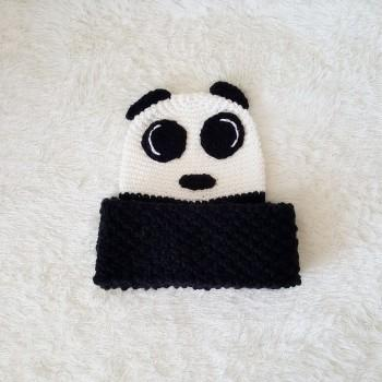2 Piece Panda Knitting Hat And Scarf Set For Baby Patpat