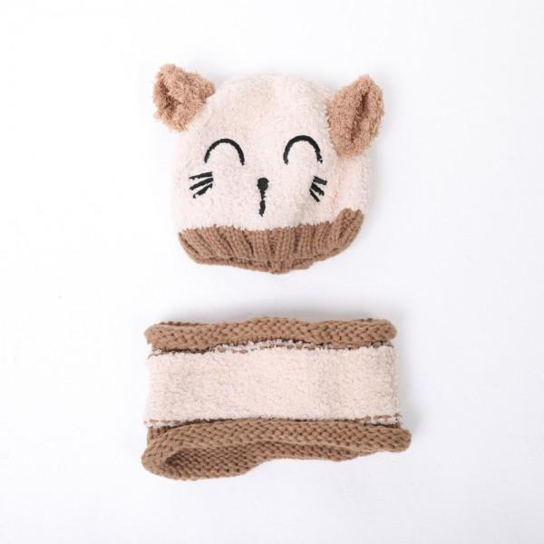 2-piece Joyful Cat Knit Hat and Scarf for Baby | PatPat