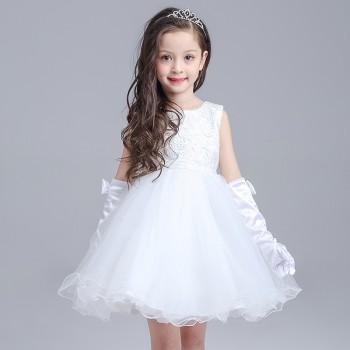 Lovely Lace Bow Tulle Dress for Baby and Toddler Girl
