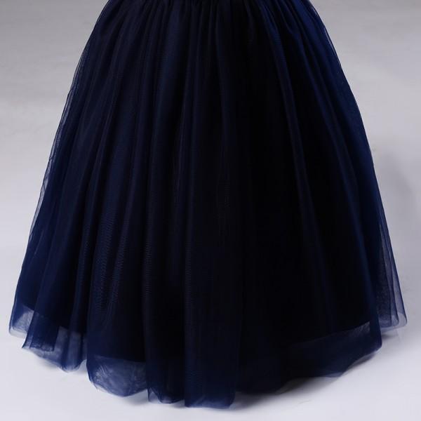 Elegant A-line Sleeveless Mesh Party Dress for Girl