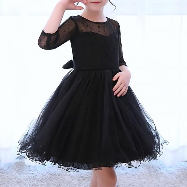 Pretty Half Slevees A-line Tulle Party Dress for Girl