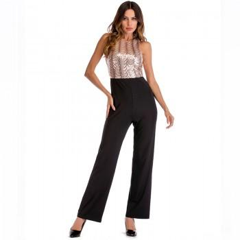 Pretty Sequined Sleeveless Jumpsuit