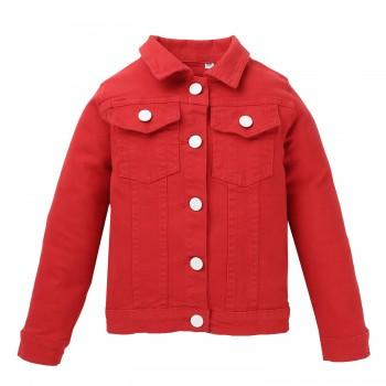 Long-sleeve Red Shirt Coat for Baby and Toddler