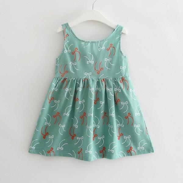 Comfy Floral Pattern Dress for Girls