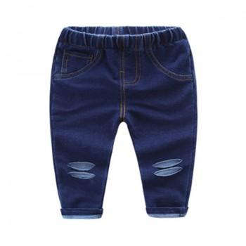 Trendy Solid Rip Jeans for Baby