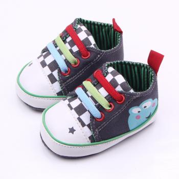Joyful Star Plaid Print Sneakers for Toddler