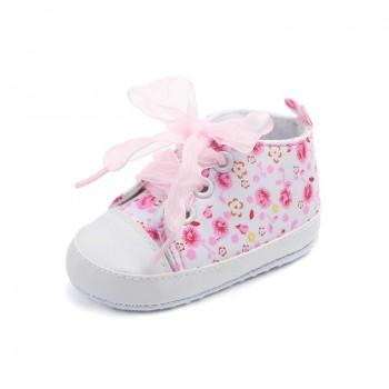 Sweet Floral Sneakers for Toddler Girl