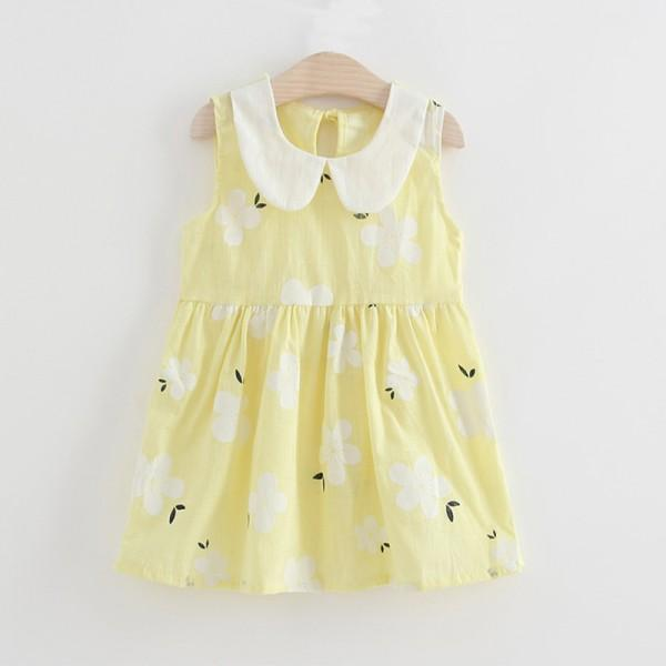 Pretty Floral Doll Collar Dress for Baby and Toddler Girl