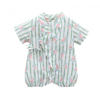 Lovely Watermelon Printed Short-sleeve Bodysuit for Baby