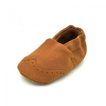 Solid Suede Crib Shoes for Toddler