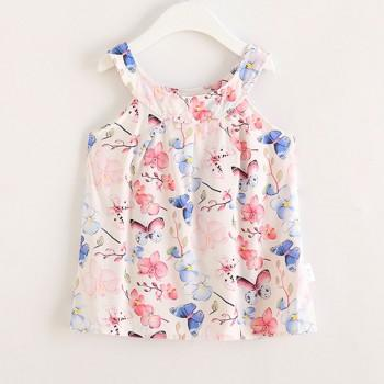 Beautiful Buttefly Pattern Sleeveless Dress for Toddler Girl