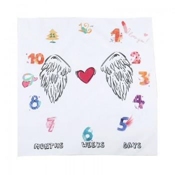 Comfy Angel Wings Print Baby Blanket