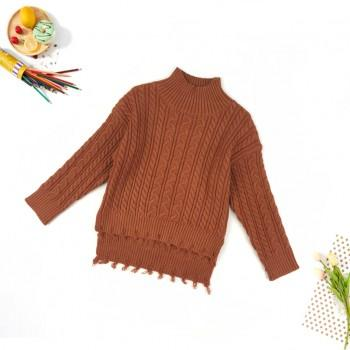 Casual Solid Long-sleeve Sweater for Kid