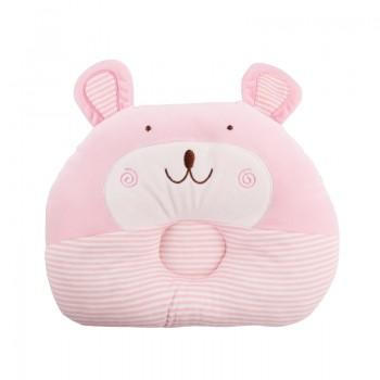 Cute Smile Bear Design Striped Pillow for Baby