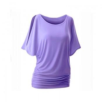 Trendy Solid Batwing Sleeves Top for Women