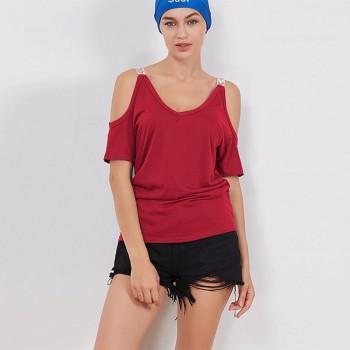 Trendy Cold-shoulder T-shirt for Women