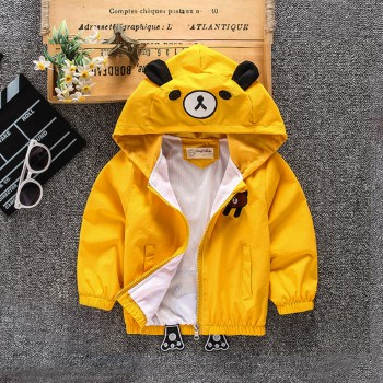 Cute Bear Design Hooded Jacket for Baby and Toddler Boy