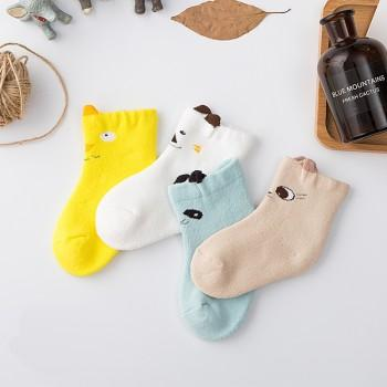 4-pack Cute Animal Design Warm Socks for Newbor and Baby