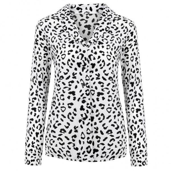 Trendy Leopard Print Blouse